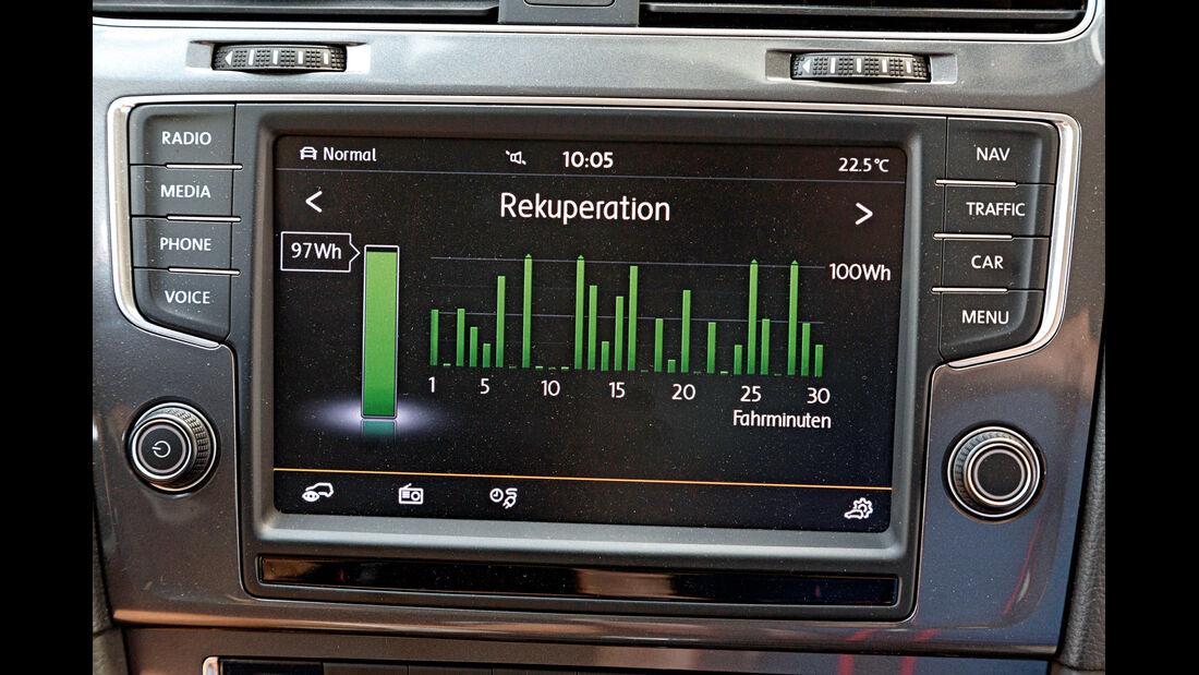 VW E-Golf, Anzeigeinstrument