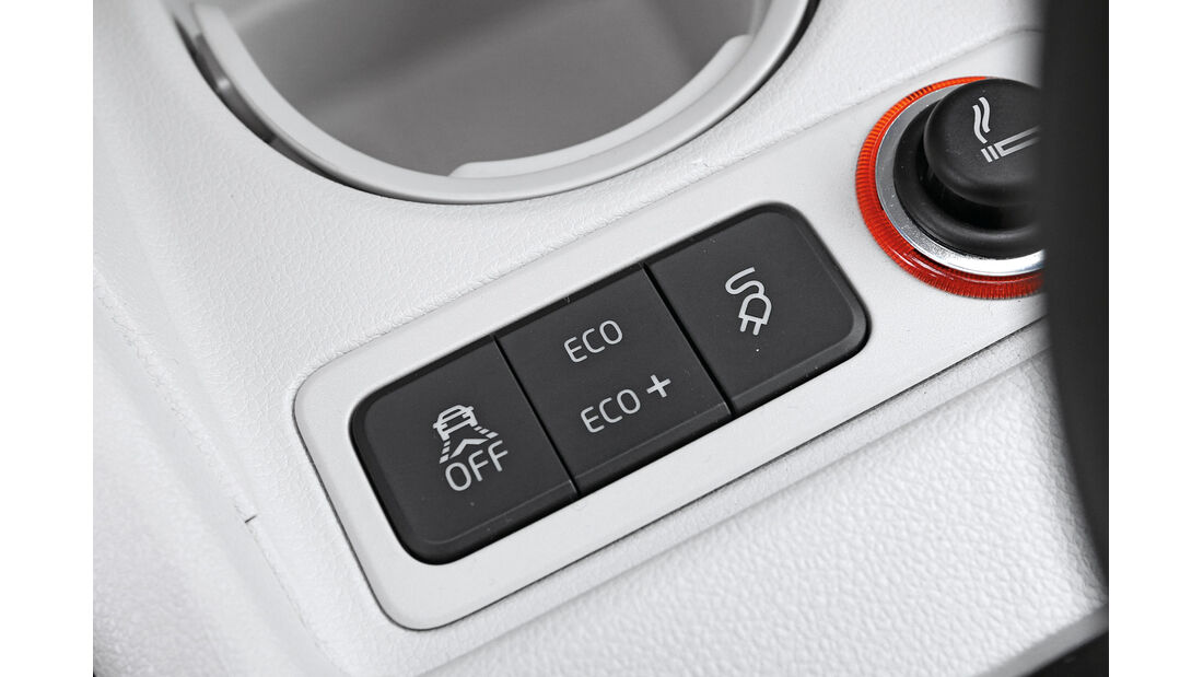 VW E-Up, Bedienelemente