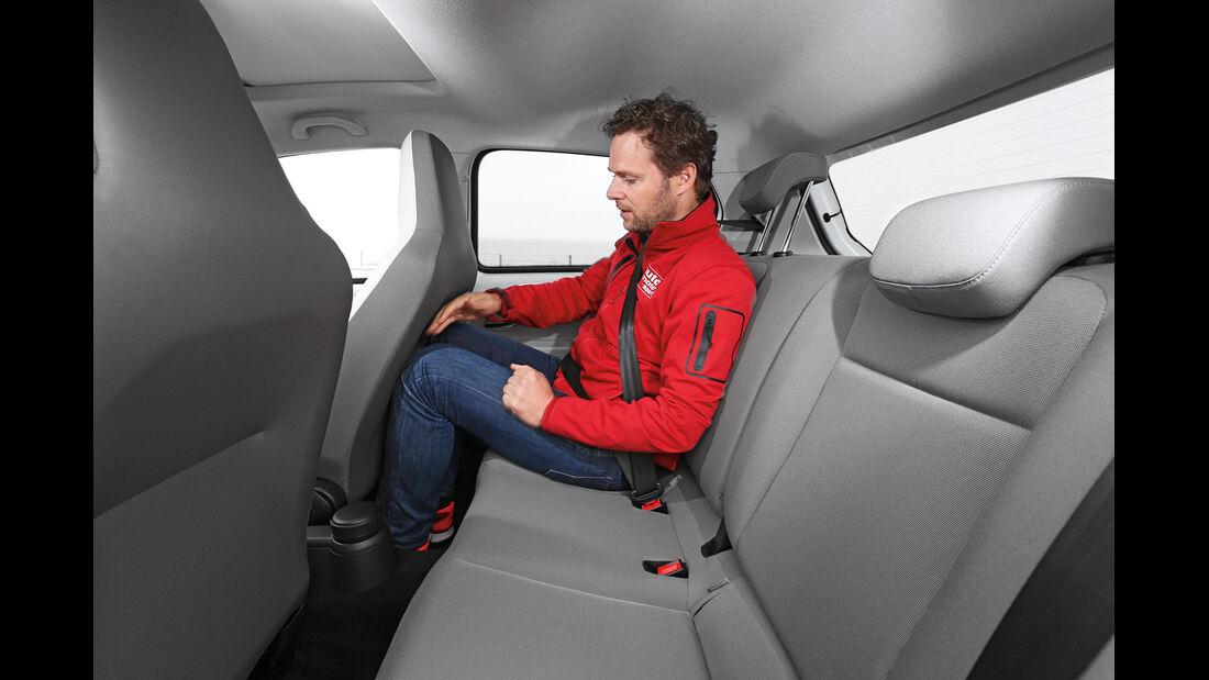VW E-Up,Rücksitz, Beinfreiheit
