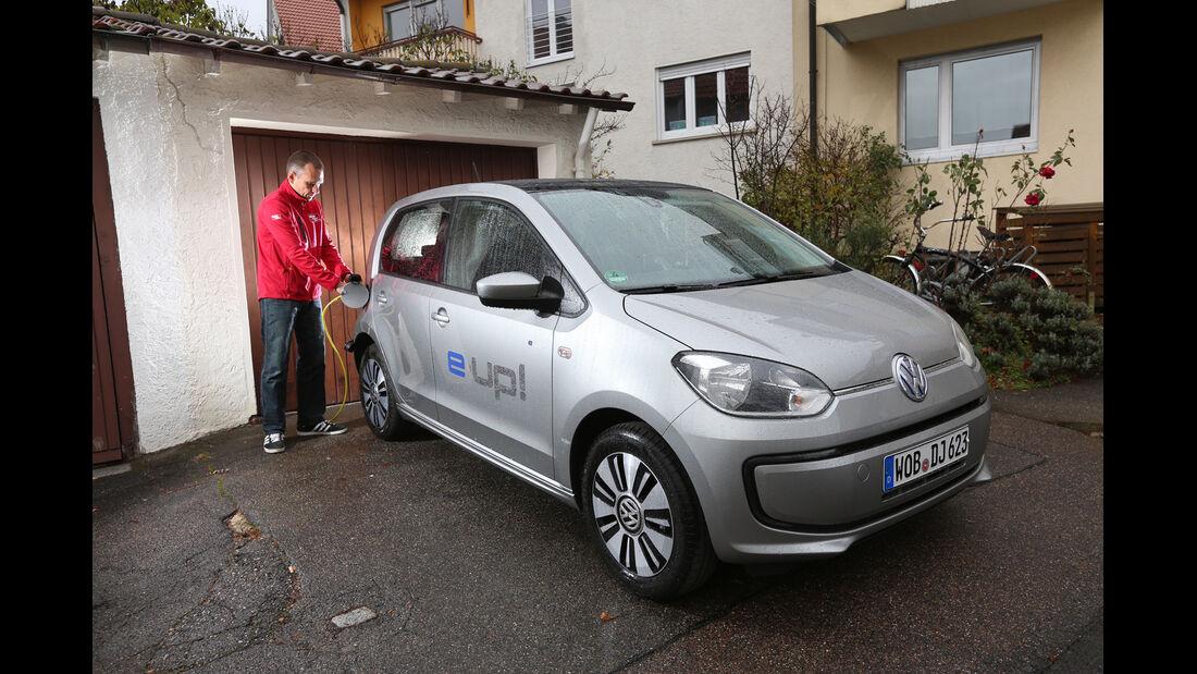 VW E-Up, Seitenansicht, Tankdeckel
