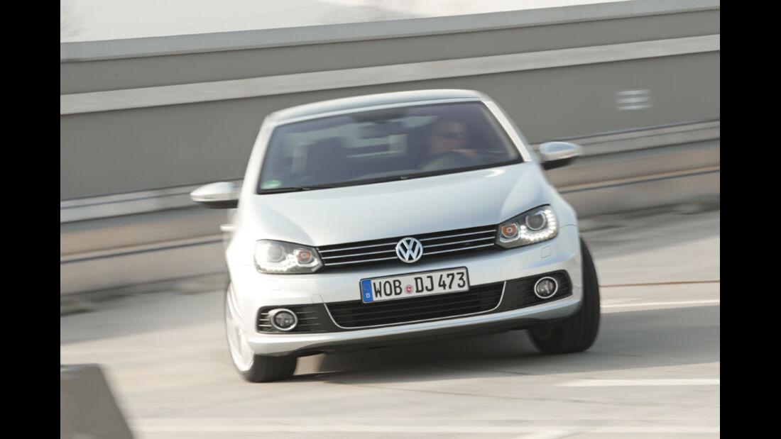 VW EOS 1.4 TSI, Frontansicht, geschlossen