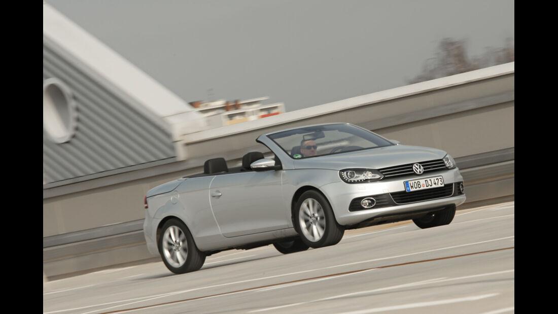 VW EOS 1.4 TSI, Seitenansicht, Cabrio, offen
