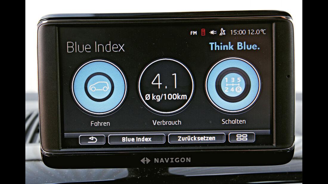 VW Eco Up, Display, Tankuhr