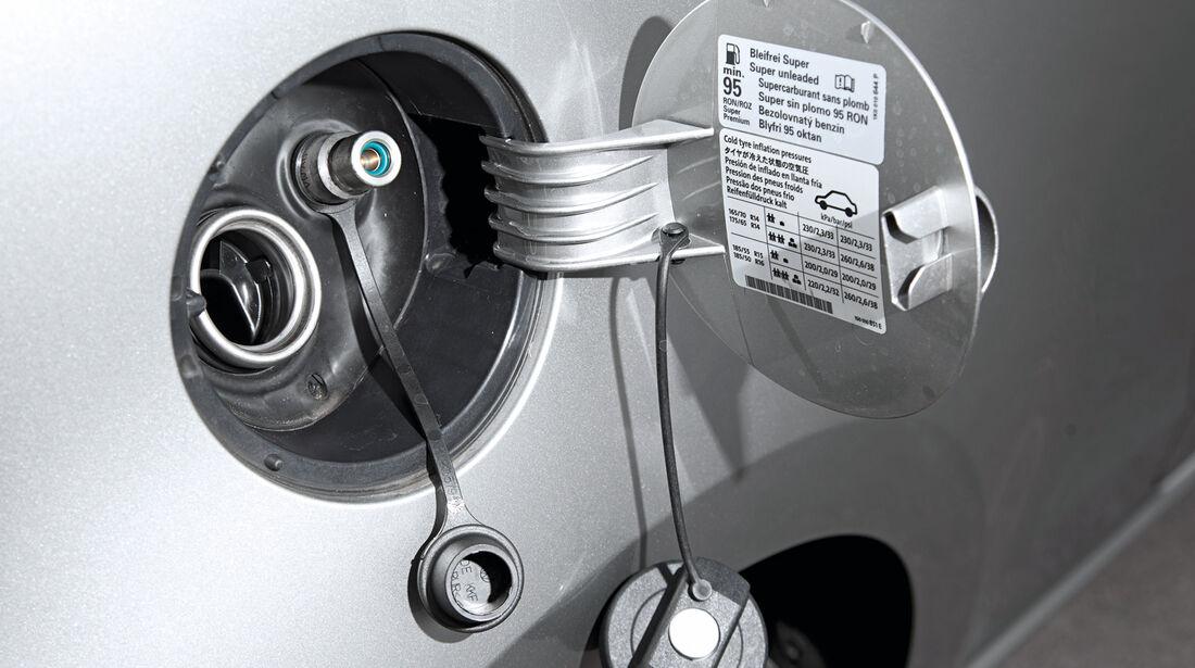 VW Eco-Up, Gasanschluss