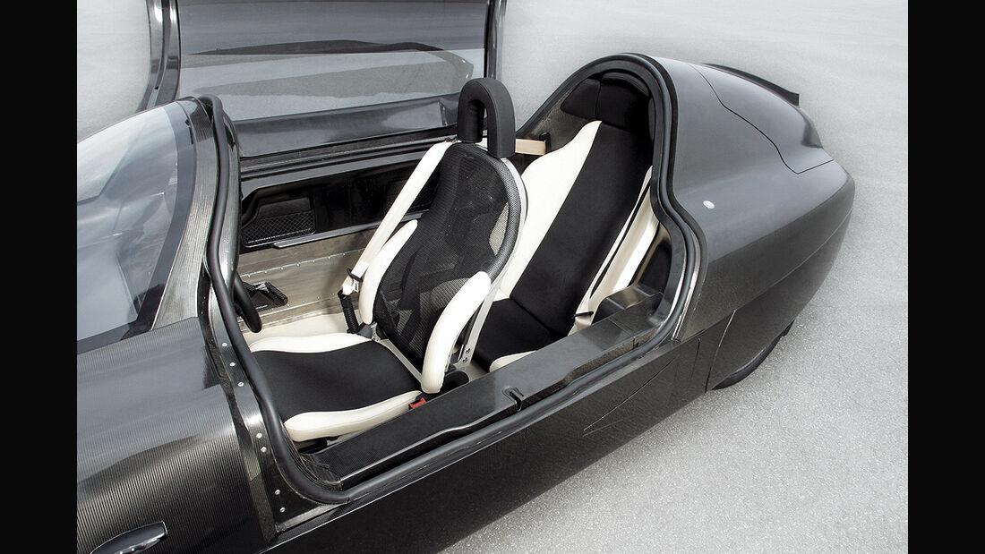 VW Einliter-Auto, 1 Liter-Auto, Innenraum, Sitze