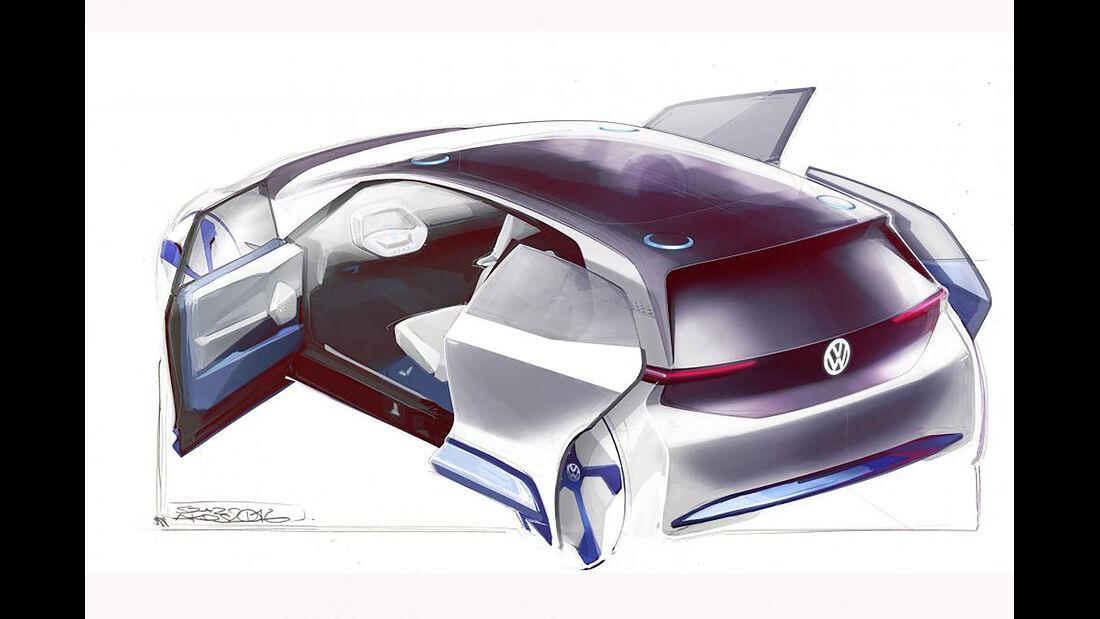 VW Elektroautokonzept Paris 2016
