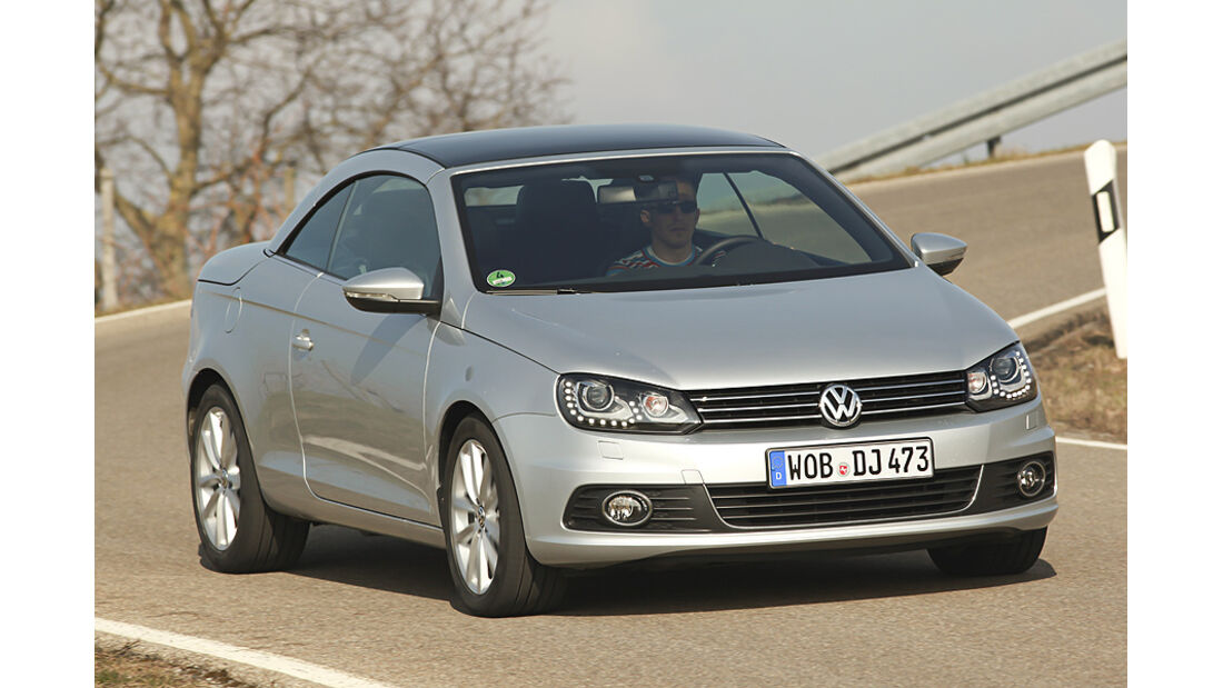 VW Eos 2.0 TDI Blue Motion Technology, Cabrio, Front