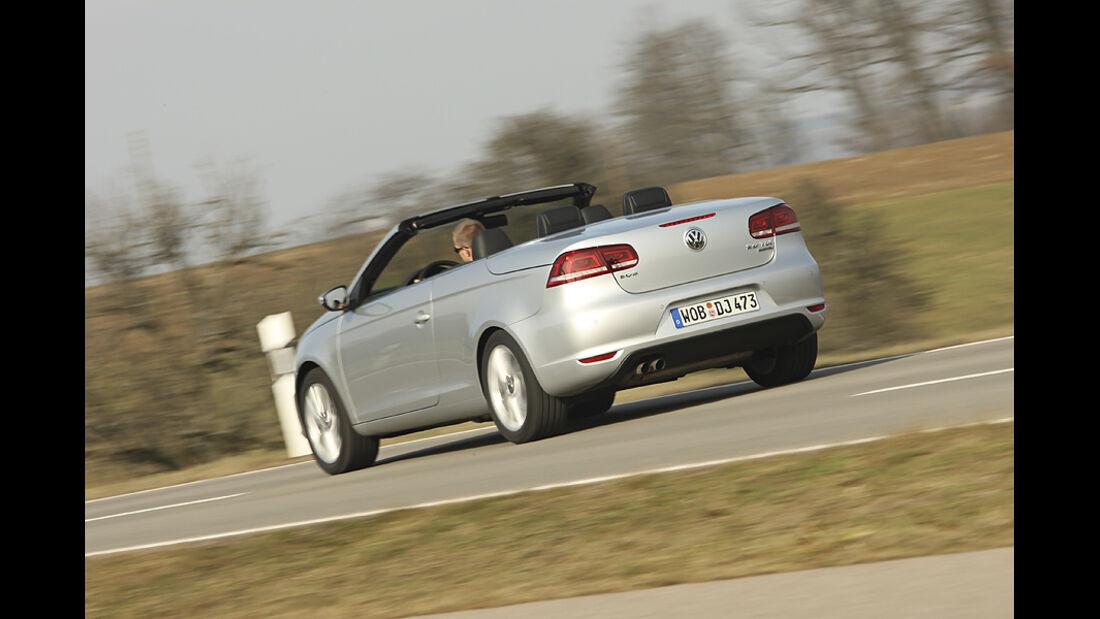 VW Eos 2.0 TDI Blue Motion Technology, Cabrio, Heck