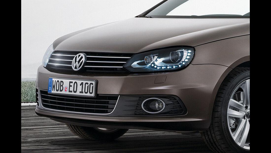 VW Eos, Facelift, 2011, Scheinwerfer, Kühlergrill