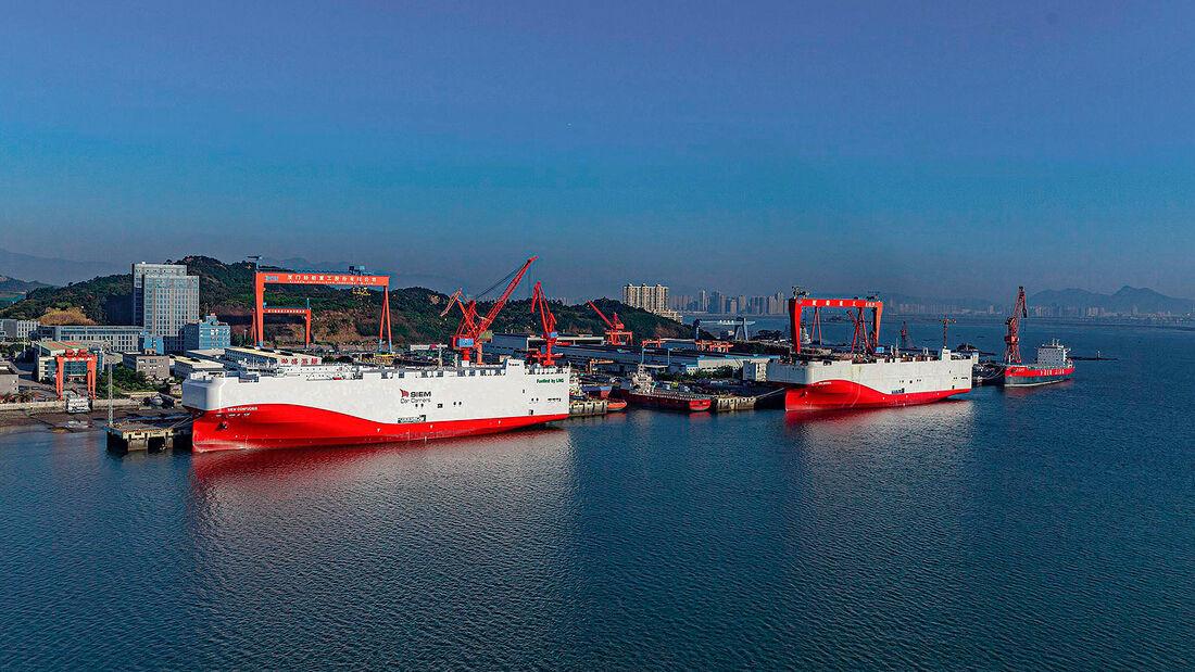VW Erdgasschiff Siem Confucius und Schwesterschiff