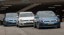 VW Golf 1.0 TSI Bluemotion, 1.2 TSI, 1.6 TDI, Frontansicht