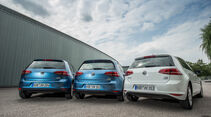 VW Golf 1.0 TSI Bluemotion, 1.2 TSI, 1.6 TDI, Heckansicht