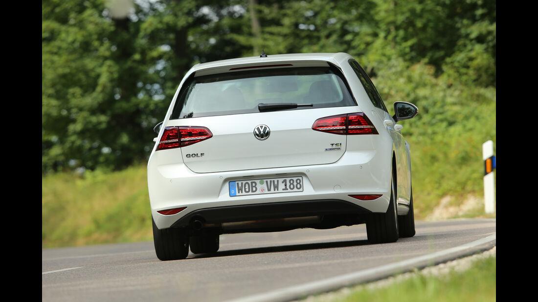 VW Golf 1.0 TSI, Heckansicht
