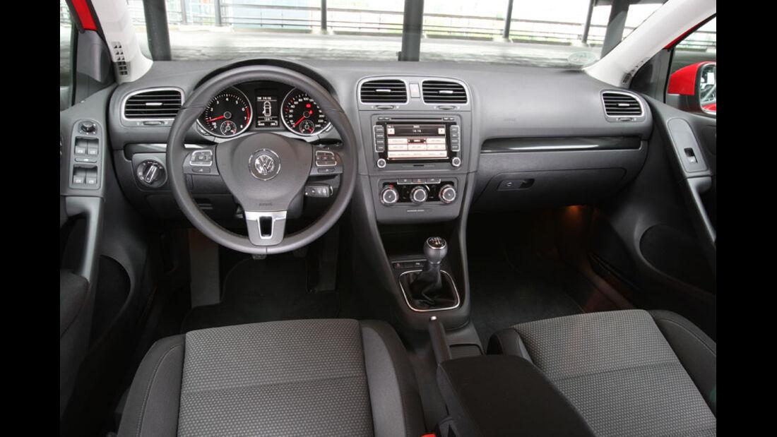 VW Golf 1.2 TSI, Cockpit, Innenraum