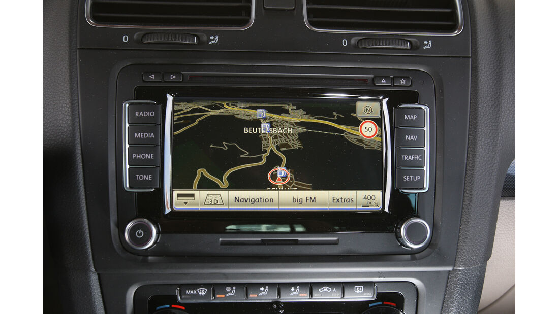 VW Golf 1.2 TSI Comfortline, Navi, Display