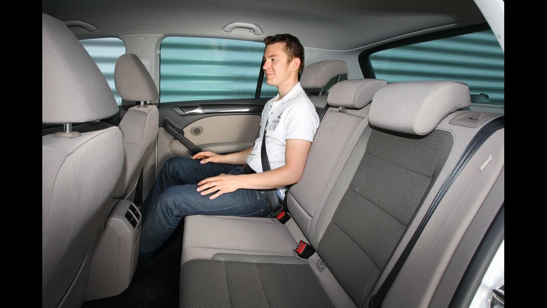 VW Golf 1.2 TSI Comfortline, Rücksitz, Beinfreiheit