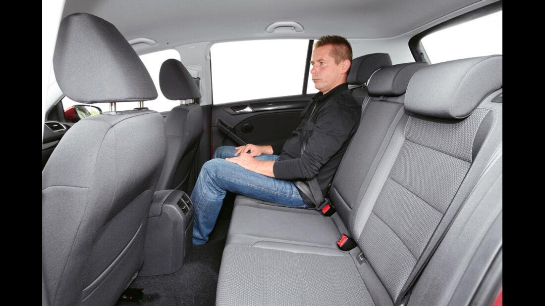VW Golf 1.2 TSI, Fond, Rückbank