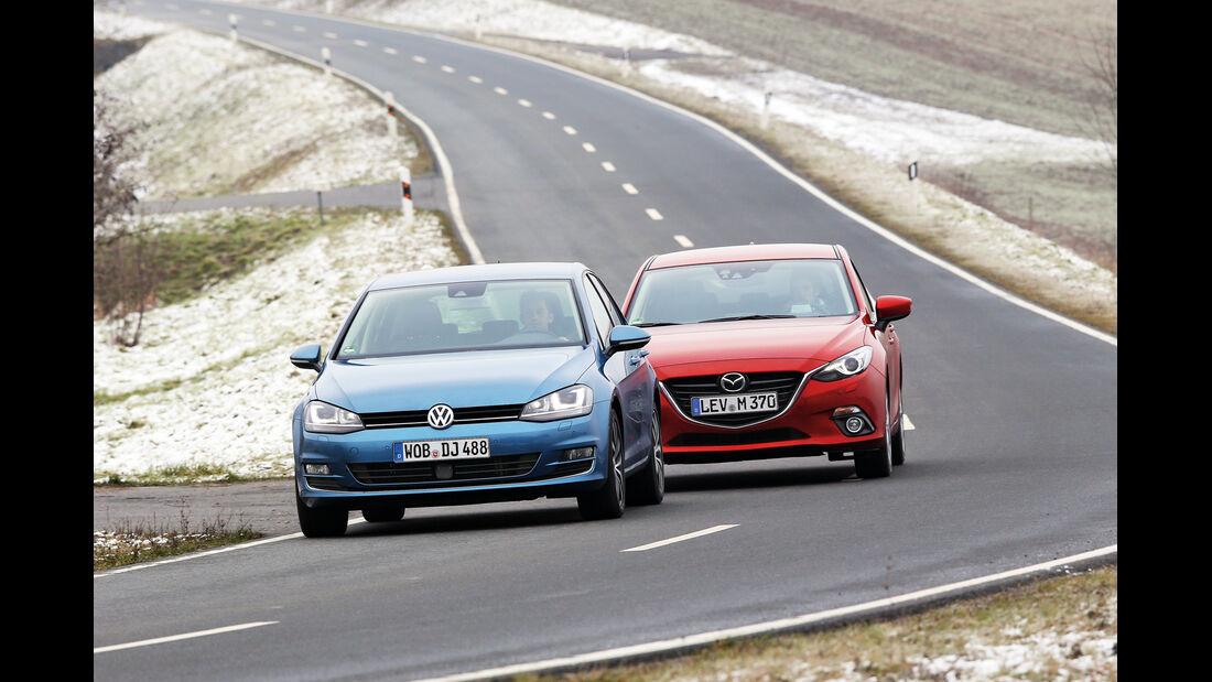 VW Golf 1.4 TSI ACT BMT, Mazda 3 Skyactiv-G 165
