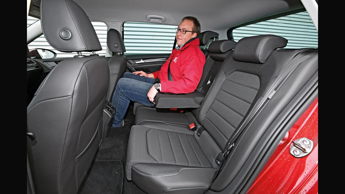 VW Golf 1.4 TSI, Fondsitz, Beinfreiheit