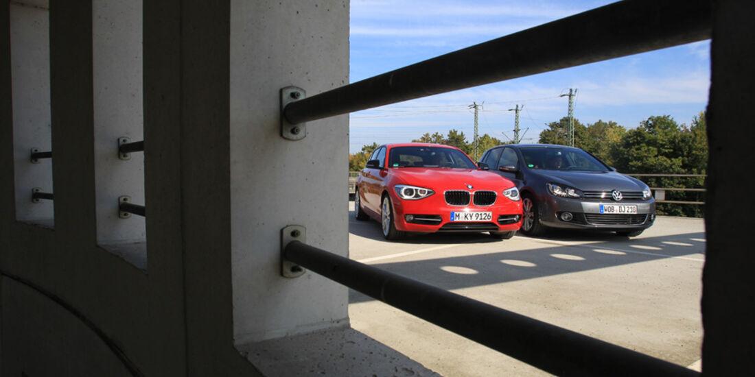 VW Golf 1.4 TSI Highline, BMW 118i Sport Line, Front