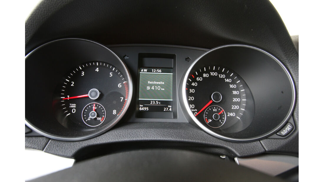 VW Golf 1.4 TSI Highline, Rundinstrumente