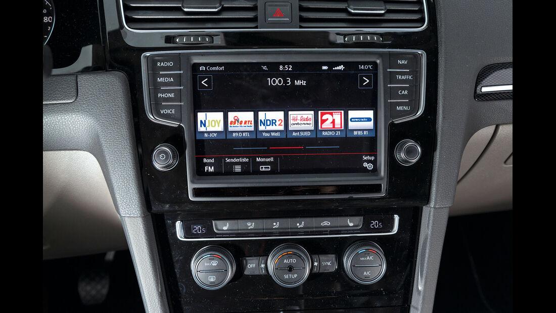VW Golf 1.4 TSI, Mittelkonsole