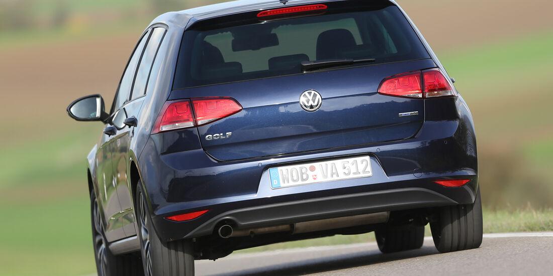 VW Golf 1.6 Blue TDI, Heckansicht