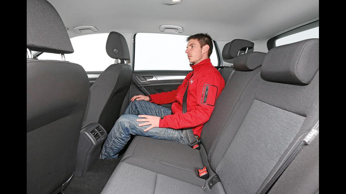 VW Golf 1.6 TDI BlueMotion, Fondsitz, Beinfreiheit