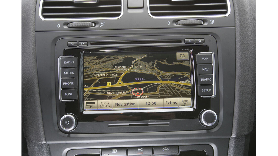 VW Golf 1.6 TDI, Display, Navi