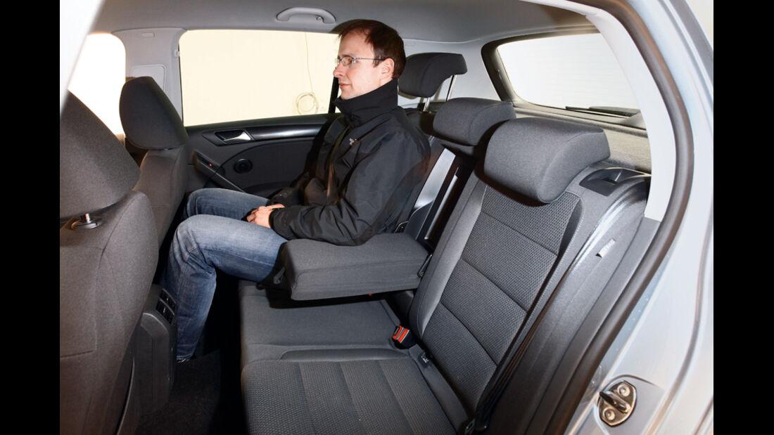VW Golf 1.6 TDI, Fond