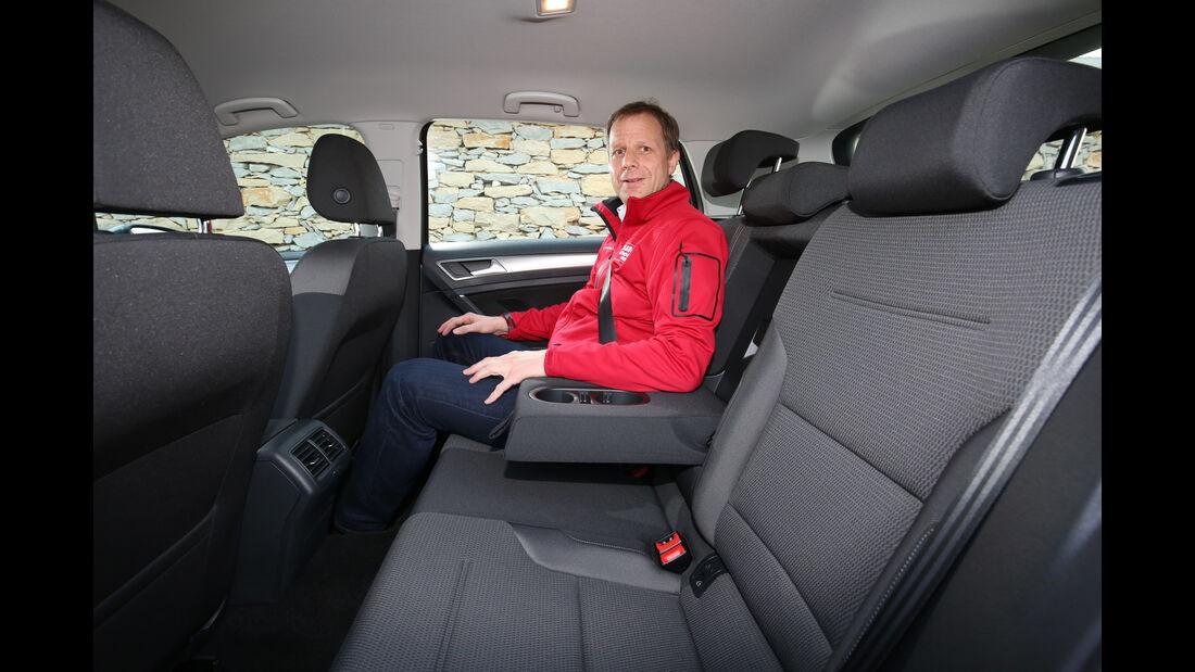 VW Golf 1.6 TDI, Fondsitze