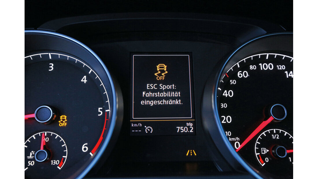 VW Golf 2.0 TDI 4 Motion, ESC, Display