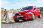 VW Golf 2.0 TDI Highline, St. Gotthard, Frontansicht
