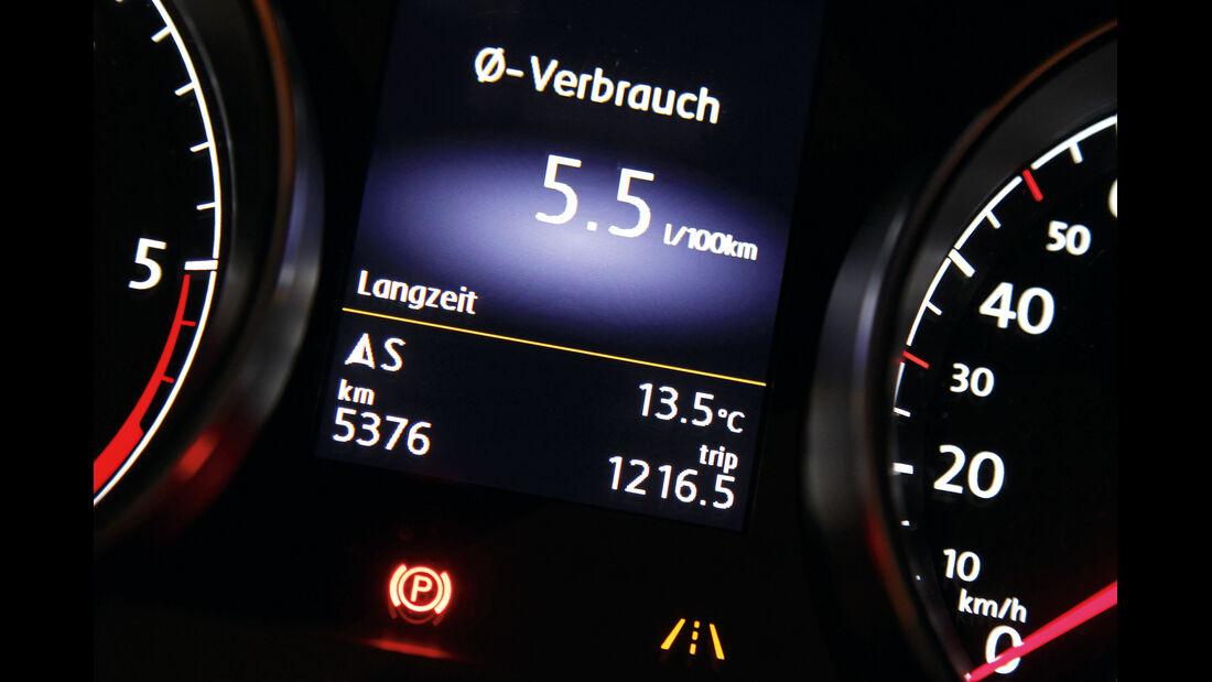VW Golf 2.0 TDI Highline, Verbrauch