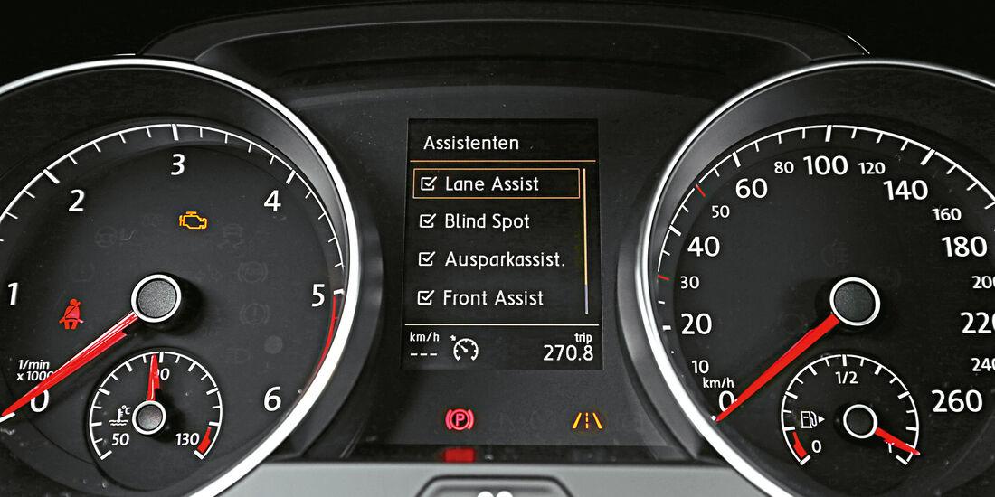 VW Golf 2.0 TDI, Rundinstrumente