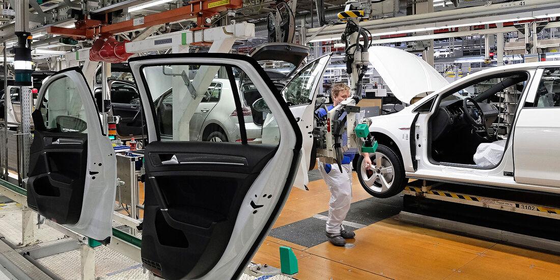 VW Golf 7 Produktion Werk Wolfsburg
