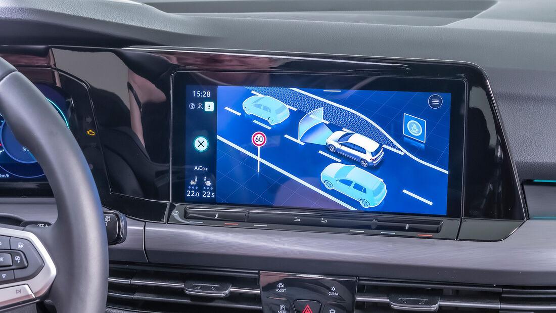 VW Golf 8, Cockpit, Infotainment, Bedienkonzept