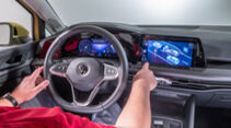 VW Golf 8, Cockpit, Infotainment, Bedienkonzept