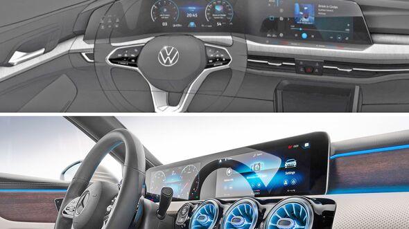 VW Golf 8 Cockpit Zeichnung