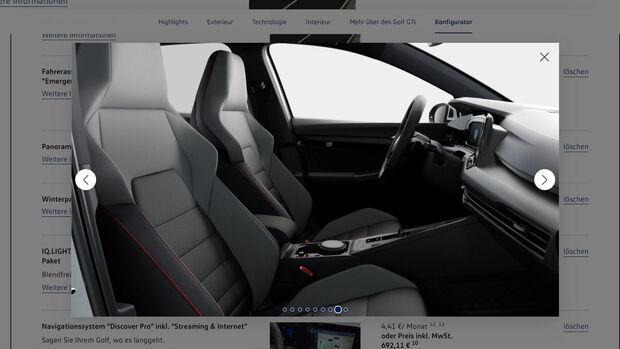 VW Golf 8 GTI Konfiurator