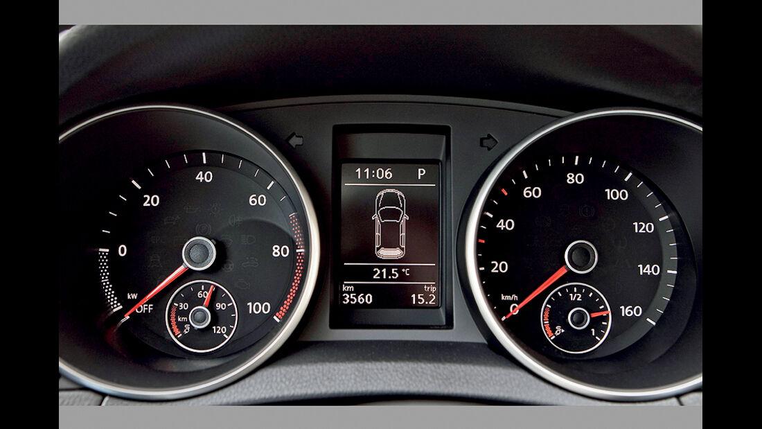 VW Golf Blue-E-Motion, Tacho