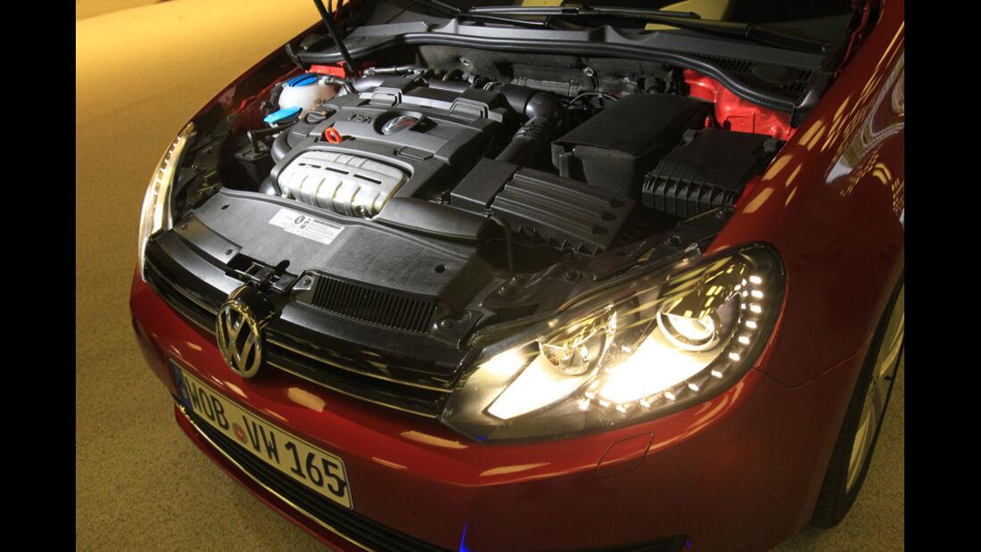 VW Golf Cabrio 1.4 TSI, Motorraum, Motor