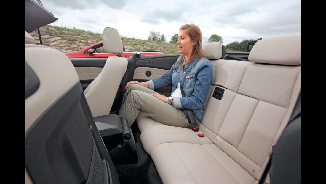 VW Golf Cabrio 1.4 TSI, Rückbank, Rücksitz