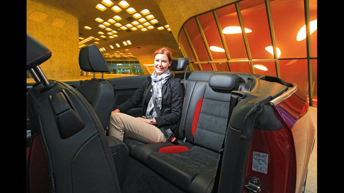 VW Golf Cabrio 1.4 TSI, Rücksitz, Rückbank