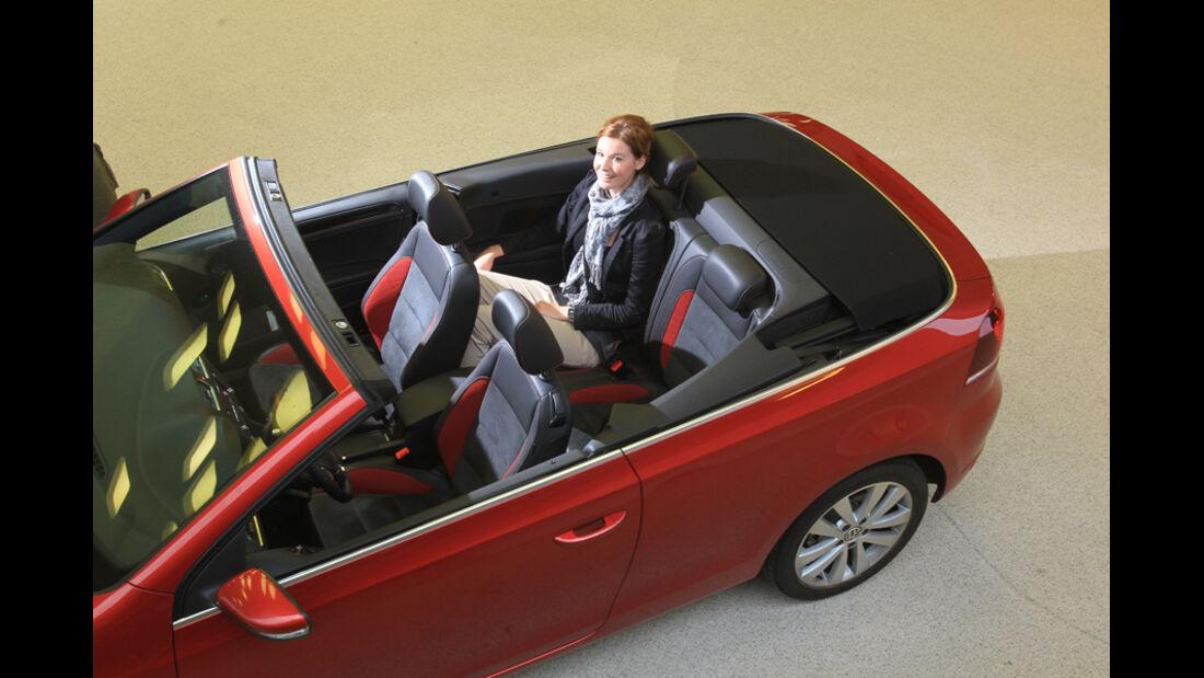 VW Golf Cabrio 1.4 TSI, Rücksitz, Rückbank, von oben