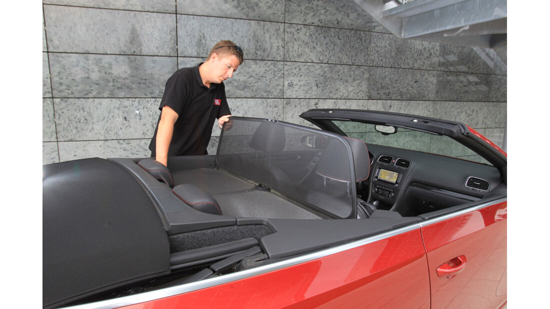 VW Golf Cabrio 1.4 TSI, Windschutz, Detail