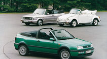 VW Golf Cabrio Baujahr 1973 und 1997