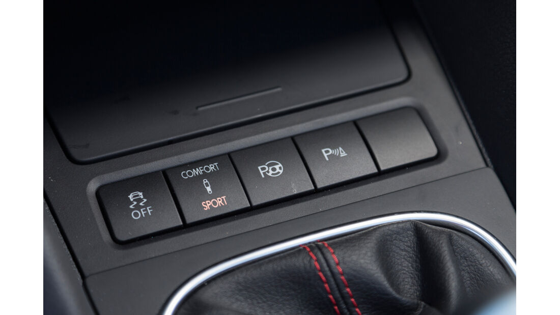 VW Golf Cabrio, Bedienelemente