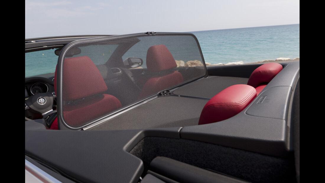 VW Golf Cabrio, Detail, Rücksitze, Hardcover