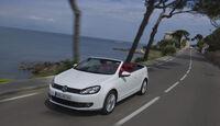 VW Golf Cabrio, Frontansicht, Straßenfahrt